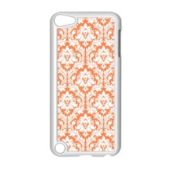 White On Orange Damask Apple Ipod Touch 5 Case (white)