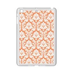 White On Orange Damask Apple Ipad Mini 2 Case (white)
