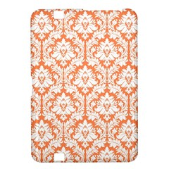White On Orange Damask Kindle Fire HD 8.9  Hardshell Case