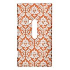 White On Orange Damask Nokia Lumia 920 Hardshell Case