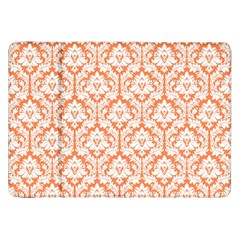 White On Orange Damask Samsung Galaxy Tab 8.9  P7300 Flip Case
