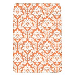 White On Orange Damask Removable Flap Cover (large)