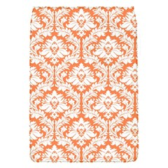 White On Orange Damask Removable Flap Cover (Small)