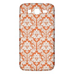 White On Orange Damask Samsung Galaxy Mega 5 8 I9152 Hardshell Case