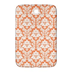 White On Orange Damask Samsung Galaxy Note 8 0 N5100 Hardshell Case