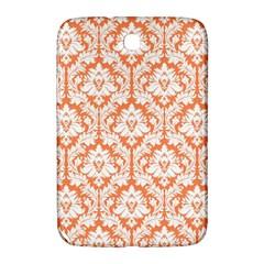 White On Orange Damask Samsung Galaxy Note 8.0 N5100 Hardshell Case