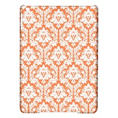 White On Orange Damask Apple iPad Air Hardshell Case