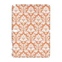 White On Orange Damask Samsung Galaxy Note 10 1 (p600) Hardshell Case