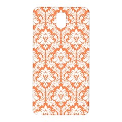 White On Orange Damask Samsung Galaxy Note 3 N9005 Hardshell Back Case