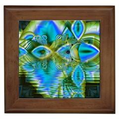 Mystical Spring, Abstract Crystal Renewal Framed Ceramic Tile