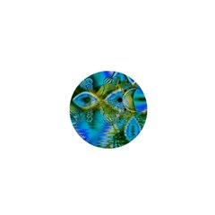 Mystical Spring, Abstract Crystal Renewal 1  Mini Button Magnet