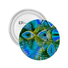 Mystical Spring, Abstract Crystal Renewal 2.25  Button