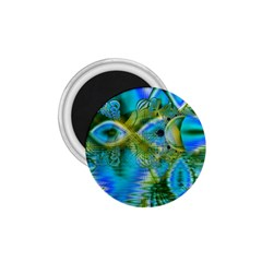 Mystical Spring, Abstract Crystal Renewal 1.75  Button Magnet