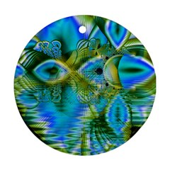 Mystical Spring, Abstract Crystal Renewal Round Ornament