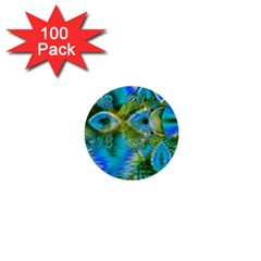Mystical Spring, Abstract Crystal Renewal 1  Mini Button (100 pack)