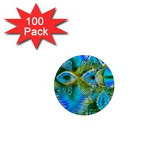 Mystical Spring, Abstract Crystal Renewal 1  Mini Button Magnet (100 pack)