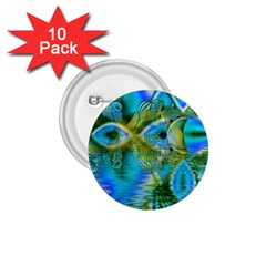 Mystical Spring, Abstract Crystal Renewal 1.75  Button (10 pack)