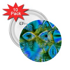 Mystical Spring, Abstract Crystal Renewal 2.25  Button (10 pack)