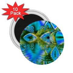 Mystical Spring, Abstract Crystal Renewal 2 25  Button Magnet (10 Pack)