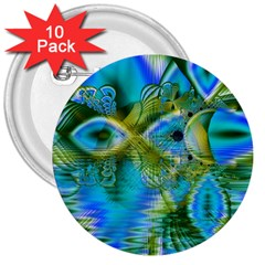 Mystical Spring, Abstract Crystal Renewal 3  Button (10 pack)