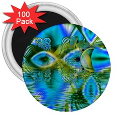 Mystical Spring, Abstract Crystal Renewal 3  Button Magnet (100 pack)
