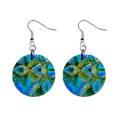 Mystical Spring, Abstract Crystal Renewal Mini Button Earrings