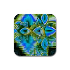 Mystical Spring, Abstract Crystal Renewal Drink Coaster (Square)