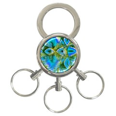 Mystical Spring, Abstract Crystal Renewal 3-Ring Key Chain