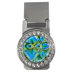 Mystical Spring, Abstract Crystal Renewal Money Clip (CZ)