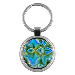 Mystical Spring, Abstract Crystal Renewal Key Chain (Round)