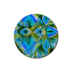 Mystical Spring, Abstract Crystal Renewal Drink Coaster (round)