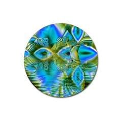 Mystical Spring, Abstract Crystal Renewal Magnet 3  (Round)