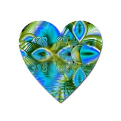 Mystical Spring, Abstract Crystal Renewal Magnet (Heart)