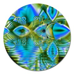 Mystical Spring, Abstract Crystal Renewal Magnet 5  (round)