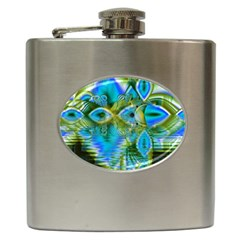 Mystical Spring, Abstract Crystal Renewal Hip Flask