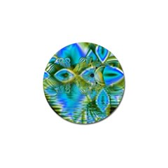Mystical Spring, Abstract Crystal Renewal Golf Ball Marker