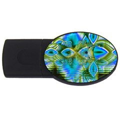 Mystical Spring, Abstract Crystal Renewal 1GB USB Flash Drive (Oval)