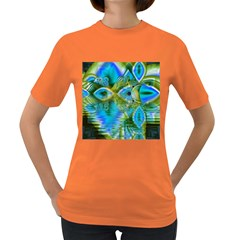 Mystical Spring, Abstract Crystal Renewal Women s T-shirt (Colored)