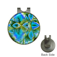 Mystical Spring, Abstract Crystal Renewal Hat Clip with Golf Ball Marker