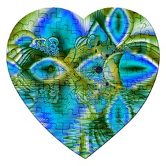 Mystical Spring, Abstract Crystal Renewal Jigsaw Puzzle (heart)