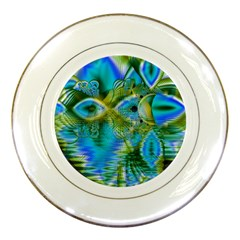 Mystical Spring, Abstract Crystal Renewal Porcelain Display Plate