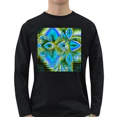 Mystical Spring, Abstract Crystal Renewal Men s Long Sleeve T-shirt (Dark Colored)