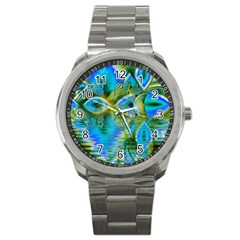 Mystical Spring, Abstract Crystal Renewal Sport Metal Watch
