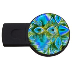 Mystical Spring, Abstract Crystal Renewal 4GB USB Flash Drive (Round)