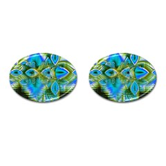 Mystical Spring, Abstract Crystal Renewal Cufflinks (Oval)