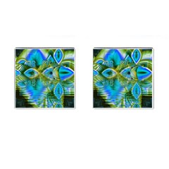 Mystical Spring, Abstract Crystal Renewal Cufflinks (Square)