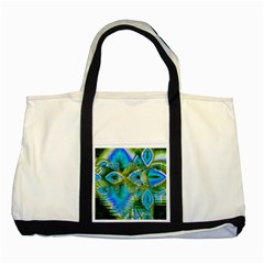 Mystical Spring, Abstract Crystal Renewal Two Toned Tote Bag