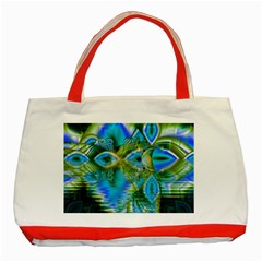 Mystical Spring, Abstract Crystal Renewal Classic Tote Bag (Red)