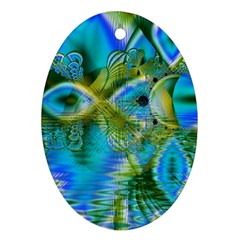 Mystical Spring, Abstract Crystal Renewal Oval Ornament (Two Sides)