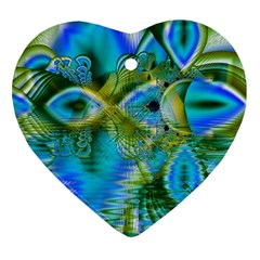 Mystical Spring, Abstract Crystal Renewal Heart Ornament (Two Sides)